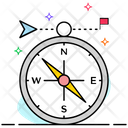 Direction Compass Rose Navigation Symbol Icon