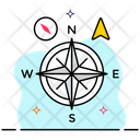 Compass Cardinal Directions Compass Rose Icon