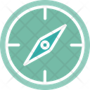 Compass Directional Geography Icon
