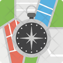 Cardinal Directions Compass Rose Location Compass Icon
