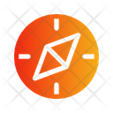 Compass Circle Shiny Navigation Direction Icon