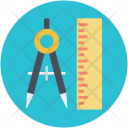 Compass Drafting Tool Icon