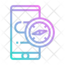 Compass Mobilephone Navigation Icon