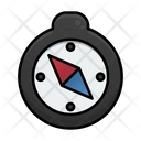 Compass Summer Sunny Day Icon