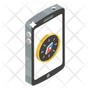Compass Mobile Navigation Compass Rose Icon