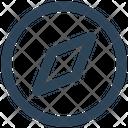 Compass Direction Safari Icon