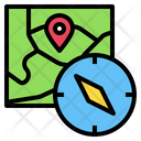Map Compass Location Icon