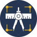 Compass Tool Geometry Scale Geometry Divider Icon