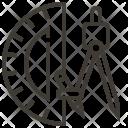 Compass Ruler Design Icon