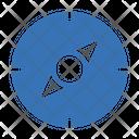 Compass Direction North Icon