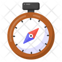 Travel Compass Directional Clock Compass Rose Icon