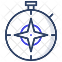 Compass Directional Instrument Orientation Icon