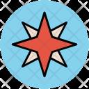 Compass Rose Cardinal Icon