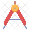 Compass Geometry Drawing Icon