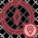 Compass Cardinal Points Orientation Icon