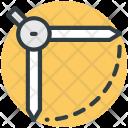 Compass Geometrical Geometry Icon