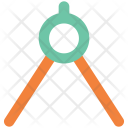 Compass Geometrical Divider Icon