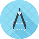 Compass Geometry Design Icon