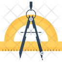 Compass Design Drawing Icon