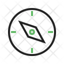 Compass Pointing West Icon