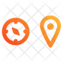 Compass And Location Icon