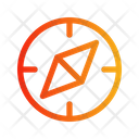 Compass circle shiny Icon
