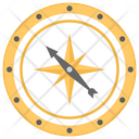 Compass Rose Cardinal Point Degrees Icon