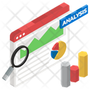 Competitor Analysis Competitor Assessment Data Analysis Icon