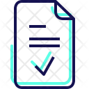 Completed Document Fitness Icon