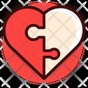 Heart Jigsaw Love Icon