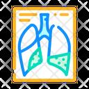Complications Pneumonia Flu Icon