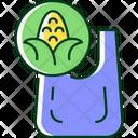 Compostable Bag Corn Icon