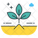 Composting Plant Leaves Icon