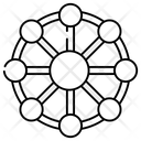 Nodes Mesh Network Topology Icon