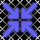 Compress Shrink Minimize Icon