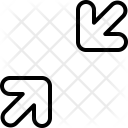 Compress Diagonal Arrow Icon