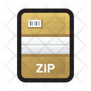 Zip File Compress Icon
