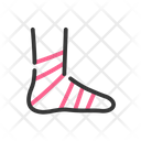 Compression Wrap Injury Muscle Icon
