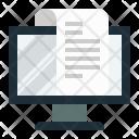 Computer Billing Report Icon