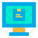 Online Delivery Online Package Online Parcel Monitoring Icon