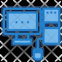 Process Data Center Computer Monitor Icon