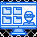 Computer Data Thief Icon