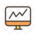Computer Growth Graph Line Graph Icon