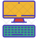 Computer Keyboard Monitor Icon