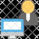 Computer Employee Desk Employee Icon