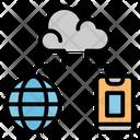 Cloud Computer Management Icon