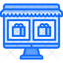 Computer Online Store Icon