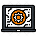 Laptop Gear Ai Icon