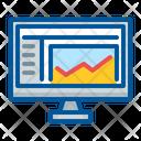 Computer Graph Monitoring Icon