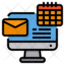 Computer Email Calendar Icon